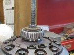 Starting the driver side carrier bearing.JPG