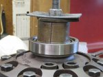 Finishing up the driver side carrier bearing.JPG